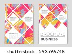 abstract vector layout... | Shutterstock .eps vector #593596748