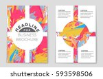 abstract vector layout... | Shutterstock .eps vector #593598506