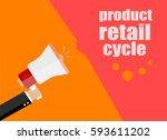 flat design business concept.... | Shutterstock . vector #593611202