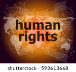 law concept  words human rights ... | Shutterstock . vector #593613668