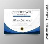 certificate premium template... | Shutterstock .eps vector #593620856