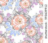abstract elegance seamless... | Shutterstock . vector #593639912