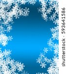 snowflake background | Shutterstock . vector #593641586