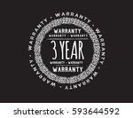 warranty 3 year icon vector | Shutterstock .eps vector #593644592