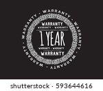 warranty 1 year icon vector | Shutterstock .eps vector #593644616