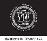warranty 5 year icon vector | Shutterstock .eps vector #593644622