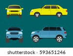 car vehicle transport type... | Shutterstock .eps vector #593651246