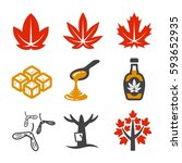 maple and maple syrup icon | Shutterstock .eps vector #593652935