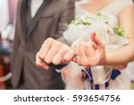 be hand in hand  promise ... | Shutterstock . vector #593654756