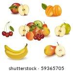 big group of sweet fruit.... | Shutterstock .eps vector #59365705