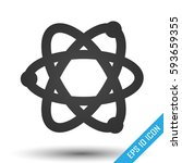 atom icon. simple flat logo of... | Shutterstock .eps vector #593659355