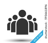 a group of five people.... | Shutterstock .eps vector #593661896