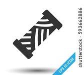 thread icon. simple flat logo... | Shutterstock .eps vector #593662886