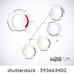 digital diagram style. diagram... | Shutterstock .eps vector #593663402