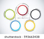 digital diagram style. diagram... | Shutterstock .eps vector #593663438