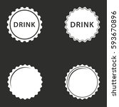 bottle cap vector icons set.... | Shutterstock .eps vector #593670896