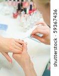manicure in process | Shutterstock . vector #59367436