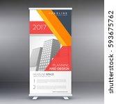 modern professional standee... | Shutterstock .eps vector #593675762