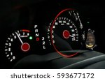 car dashboard with high speed... | Shutterstock . vector #593677172
