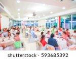 blurry scene of chinese round...   Shutterstock . vector #593685392