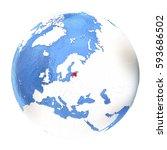 map of estonia on elegant...   Shutterstock . vector #593686502
