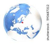 map of lithuania on elegant...   Shutterstock . vector #593687312