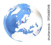 map of denmark on elegant...   Shutterstock . vector #593688548