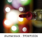 Abstract Image Of A Bottle Of...
