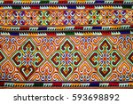 the pattern of colorful clothes.... | Shutterstock . vector #593698892
