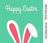 happy easter typographical... | Shutterstock .eps vector #593709188
