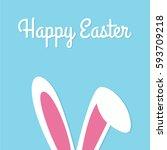 happy easter typographical... | Shutterstock .eps vector #593709218