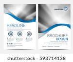 brochure or flyer design... | Shutterstock .eps vector #593714138