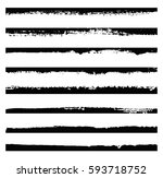 set of grunge edges.vector... | Shutterstock .eps vector #593718752