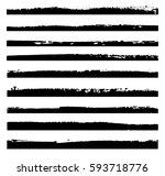 set of grunge edges.vector...   Shutterstock .eps vector #593718776