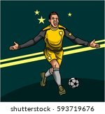 soccer sport man character | Shutterstock .eps vector #593719676