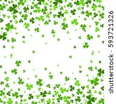 saint patrick's day border with ... | Shutterstock .eps vector #593721326