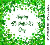 saint patrick's day border with ... | Shutterstock .eps vector #593721332