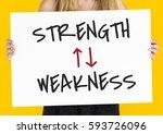 strength weakness arrow up down ... | Shutterstock . vector #593726096
