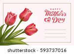 happy mothers day lettering.... | Shutterstock .eps vector #593737016