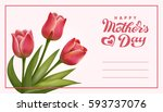 happy mothers day lettering.... | Shutterstock .eps vector #593737076