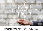 frequently asked question  faq  ... | Shutterstock . vector #593737262