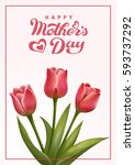 happy mothers day lettering.... | Shutterstock .eps vector #593737292