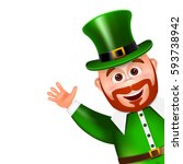 leprechaun cartoon character... | Shutterstock .eps vector #593738942