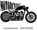 motorcycle icon | Shutterstock .eps vector #593744282