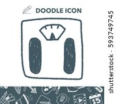 weighting machine doodle drawing | Shutterstock .eps vector #593749745