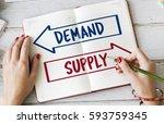 demand supply decision choice... | Shutterstock . vector #593759345