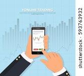online trading technology.... | Shutterstock .eps vector #593763932