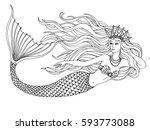 Mermaid Swimming Undersea  Han...