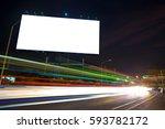 billboard blank for outdoor... | Shutterstock . vector #593782172