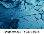 abstract 3d rendering of... | Shutterstock . vector #593785016